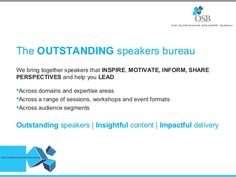 We bring together speakers that inspire , motive, inform, share perspectives and help you LEAD Across domains and expertise areas  Across a range of sessions, workshops, and event formats Across audience segments For more details  Call:+91 124 441 758, 9953325424