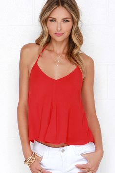 d8951beb386e0 Lucy Love What ll It V  Red Crop Top