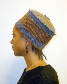 XENOBIA BAILEY'S ARTIST WORK JOURNAL: FUNKY CHIC, URBAN ELEGANT, WOOL, TAPESTRY CROCHET, UNISEX CROWNS BY INTERNATIONAL FIBER-ARTIST XENOBIA BAILEY