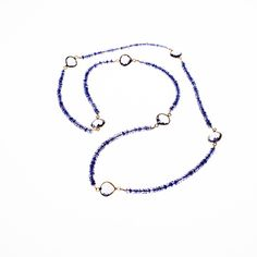 Iolite & Amethyst Endless Loop Necklace from Wanderlust Jewels LLC for $300.00