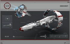 Georg Hilmarsson is a senior concept artist at CCP, the developers of EVE Online. So the art you're about to see features, spoilers, a lot of spaceships from EVE Online.