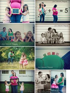 Maternity Picture Ideas like the one where they spell out girl on her belly