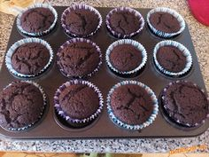 Čokoládové muffiny Brownies.