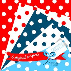 ArigigiArt: #Polka #Dot - Nautical Colors - #Free #Download