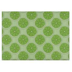 Lime Fruit pattern glass cutting board
