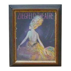Antique Ziegfeld Theatre Print - $650 Est. Retail - $300 on Chairish.com