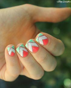 Géométrique estival (tuto !) - Cocos nails
