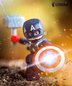 Captain America: Lego Minifigure - Decoration and Outfits Lego Minecraft, Lego Moc, Lego Spiderman, Lego Marvel's Avengers, Lego Technic, Lego Ninjago, Captain America, Lego Dc Comics, Lego Custom Minifigures