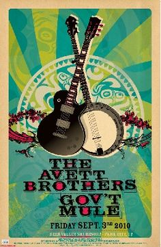 banjo & avett bro's // love the colors on this