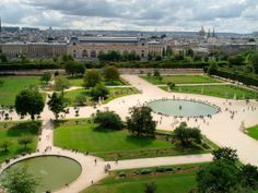 Located between the Louvre and the Place de la Concorde, the Tuileries's Gardens include grassy areas picnic-ing, paths for strolling, and pools of water for lounging around.  An ideal location for an afternoon of relaxation, this park has been open to the public and a typical meeting place for Parisians since the French Revolution!