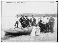 Fishermen at South Branch Lake, N.B.