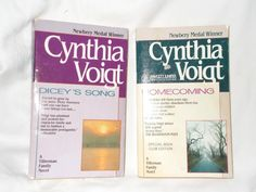 2 Cynthia Voigt Paperback Books Homecoming Dicey's Song Tillerman Family Novel