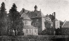 Kasteel Bleijenbeek, Foto van het kasteel en kapel. Foto wellicht genomen rond 1915 (gelet op de klimop van de voorgevel!).