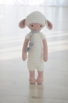 LUPO the lamb made by Bożena P. / crochet pattern by lalylala