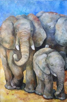 m in oil Baby Elephant Walk, Baby Elefant, Art Society, Unique Baby, Types Of Art, Paintings For Sale, Canvas Art, Wall Art, Gallery