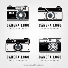 Logotipos câmera retro