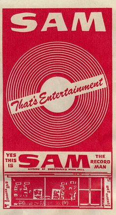 Sam the Record Man-- there were 3 stores of this chain in Edmonton. First, in West Edmonton Mall, eventually a small outlet opened in Kingsway Garden Mall, and finally a huge store appeared on Whyte. Avenue. All were cool, in my eyes, though, all are long gone...