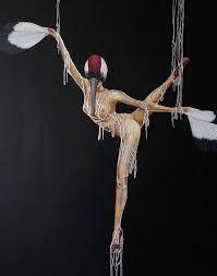 @SHE Art Gallery, Nuenen/Eindhoven, NL Cynthia Vandenbor - Silver Strings (Vogelvrouwen-Birdwomen)