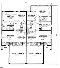 Plano de casa con 4 dormitorios de m s de 100 m2 house for Multi family condo plans
