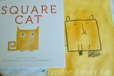 Books = Fun: Square Cat ~ Creative Family Fun ~ making our own square cats based on the book Square Cat