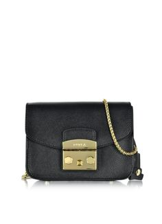 Furla+Black+Metropolis+Mini+Crossbody+Bag