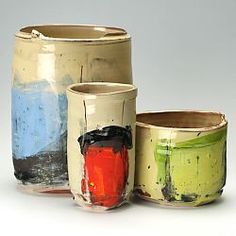Blue, red and green vessels