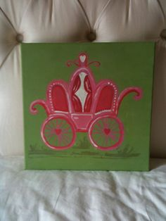 Princess Buggy Painted 12x12 canvas by Lesha625 on Etsy, $30.00