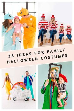 Family Costumes For 3, Sibling Halloween Costumes, Sibling Costume, Unique Halloween Costumes, Theme Halloween, Halloween Outfits, Halloween Kids, Costume Ideas, Halloween Decorations