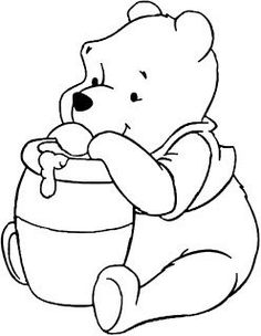 winnie the pooh Bear Coloring Pages, Cartoon Coloring Pages, Coloring Books, Disney Princess Coloring Pages, Disney Princess Colors, Winnie The Pooh Drawing, Pooh Bear, Disney Drawings, Easy Drawings