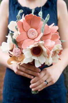 Custom Wedding Wildflower Felt Bouquet & by munclefredart on Etsy, $156.00