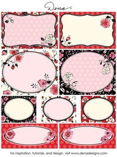 Valentine's Day Inspiration: Free Printable Valentine's Day Tags | Dena™ Designs