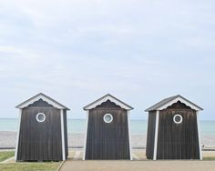 Beach Cabins Photography Normandy France 8x10 French by magalerie, $30.00