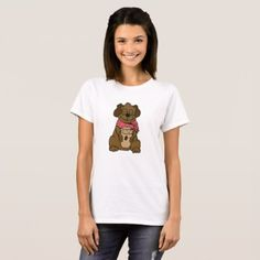 #Dog with coffee cup T-Shirt - #dog #doggie #puppy #dog #dogs #pet #pets #cute #doggie #womenclothing #woman #women #fashion #dogfashion