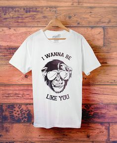 I Wanna Be Like You Jungle Book Tee  // Men's Graphic Tee by Clarafornia