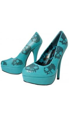 IRON FIST SUGAR HICCUP HEELS TEAL - I have these in teal and in purple, LOVE them!