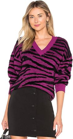 Shop the latest collection of The Tiger Sweater L'Academie - Womens Fashion Sweater from the most popular stores - all in one place. Fashion Over 50 Blog, Over 50 Womens Fashion, Latest Fashion For Women, Latest Fashion Trends, Clothes For Sale, Clothes For Women, Korean Fashion Casual, Pullover, Pop Fashion