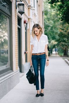 exPress-o: Spring Style: Short Sleeved Button-Down Shirt                                                                                                                                                     More