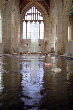 'The Memory of Place' at St. Mary's church in York in 2008 is the most moving art installation I have experienced. I still tell people about it. Keiko Mukaide installed a 'river' and invited us to float a candle down it while thinking of someone who is no longer in our lives. The church was silent. Visitors shed tears quietly. We could write a memory or a prayer on a scrap and tie it to a wire tree to connect to our lost ones.