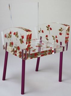Shiro Kuramata, Japanese, 19341991. Ishimaru Co., Japan, manufacturer. Miss Blanche Chair, 1988. Paper flowers, acrylic resin and aluminum.  Museum of Modern Art, 202.1998. #Recipes    ...BTW,Please Check this out:  http://artcaffeine.imobileappsys.com