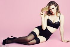 Body beautiful: Alicia Silverstone strips down to her underwear for a new magazine shoot