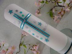Taufkerze Kommunionkerze Kreuz mint silber mit Sternen Taufkerzen Junge Mädchen | Baby, Taufe, Kerzen | eBay!
