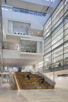 Center of Brain, Behavior and Metabolism - Interior Stairs Cultural Architecture, Atrium Architecture, University Architecture, School Architecture, Architecture Design, Auditorium Architecture, Amphitheater Architecture, Auditorium Design, Auditorium Seating