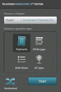 Free study aid featuring flash cards, multiple choice and fill-in-the-blank questions helps students master the core lessons in Television Production 15e by Millerson and Owens.