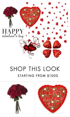 """""""Happy Valentine's Day """" by lalaloopsy2015 ❤ liked on Polyvore featuring women's clothing, women, female, woman, misses and juniors"""