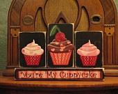 Valentine Blocks - You're My Cuppycake Sign