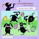 Those sneaky ninja Easter bunnies are super stealthy when they deliver their colorful eggs.  Images included in this set:  4 separate stealthy ninj...