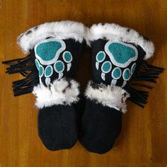 Greatest addition to my wardrobe I've ever made. Native American Dress, Native American Regalia, Native American Crafts, Native American Fashion, Native Fashion, American Art, Native Beading Patterns, Beadwork Designs, Native Beadwork