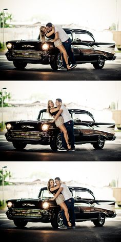 Some engagement photos, and the getaway car from our wedding.