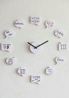 diy crafts for teen girls bedroom. DIY Cute clock for teen girl room #Teengirlbedrooms