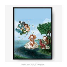 The Birth of Venus Botticelli Print inspired by por Monigotadas